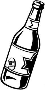 bottle clipart black and white 6
