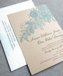 Lauren Kraft Lace Wedding Invitation Sample