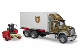 100 Ups Truck Toy 116 Mack Granite UPS Logistics With Fork Lift