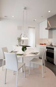 White Modern Tokyo Kitchen Zen Style Decoration With Simple Furnitures And