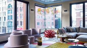 100 Soho Interior Design Color Energy And Contemporary Art Impart A Sense Of Wow In