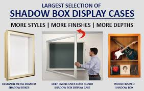 Shadow Box Display Cases From SwingFrame Are Wall Mounted That Come In A Numerous Sizes And Depths Theres No Other