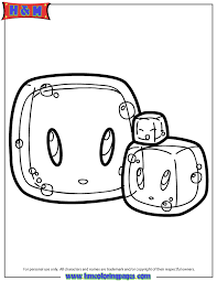 Slime Cubes Coloring Page
