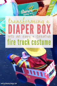 Making A Fire Truck Halloween Costume For Free (With Lights And ...