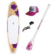 sup makai wahine 10 0 flower paddle cap leash acheter stand
