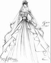 Drawn Costume Wedding Dress 7