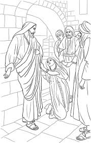 Click To See Printable Version Of Jesus Heals Canaanite Womans Daughter Coloring Page