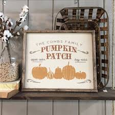 Tucson Pumpkin Patch by Custom Wood Sign Pumpkin Patch Family Name 18