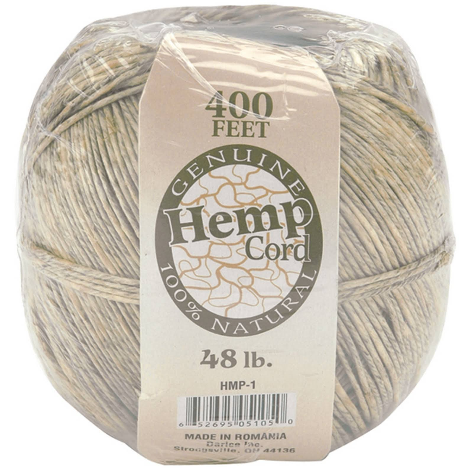 Darice Hemp Cord - Natural, 400ft