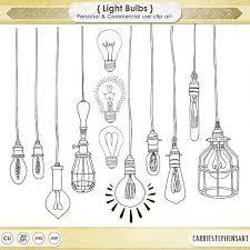 lightbulb clip wedding string light clipart vintage