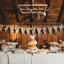 Rustic Wedding Cake Display Photo By Harper Point Photography