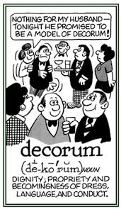 Define The Term Decorous by Decor Word Information