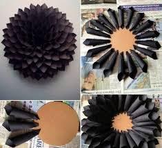 kreative wandgestaltung mit deko aus papier kreativ