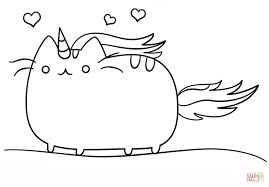 Kawaii Cat Unicorn Coloring Page Printable Pages Click The Picture Of A To Color Animal
