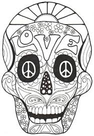 Day Of The Dead And Sugar Skull Coloring