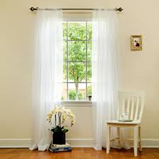 Sheer Cotton Voile Curtains by Amazon Com Best Home Fashion Sheer Voile Curtains Back Tab Rod