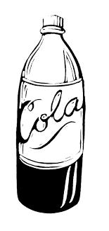 soda bottle clip art black and white