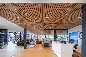 100 Wood Cielings Linear Veneered Ceilings Interior By Hunter Douglas