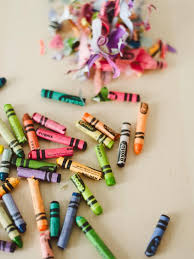 Unwrap And Break Old Crayons