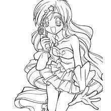 Mermaid Melody Hanon Coloring Page