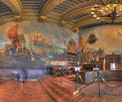 santa barbara courthouse mural room by bill heller