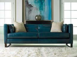 Bernhardt Brae Sofa Leather by Chic Classic Dark Cyan Leather Queen Sleeper Sofa With High Back