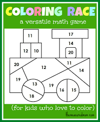 Math Game For Kids Coloring Race Combines And
