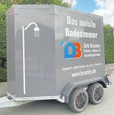 mobiles badezimmer für die baustelle lokales