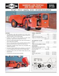 Narrow Low Profile End Dump Truck (DT- 22N) - DUX MACHINERY ...