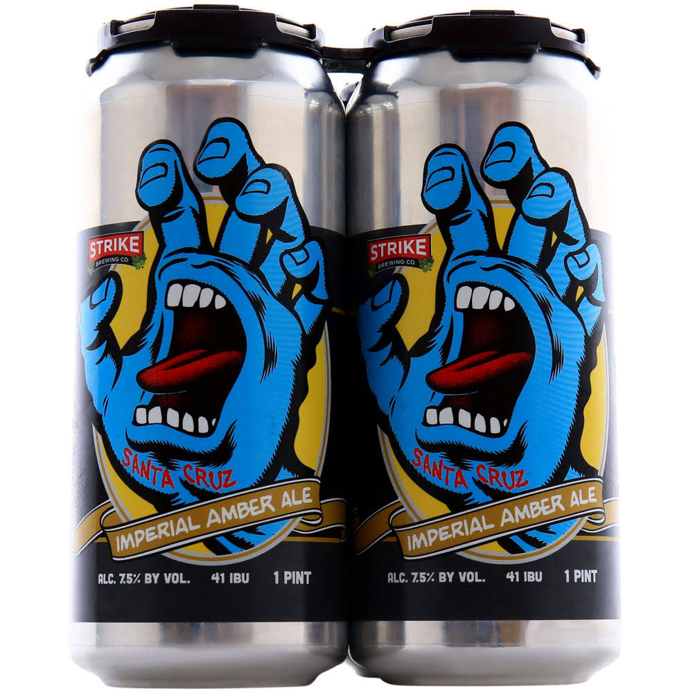 Imperial Strike Brewing Screaming Hand Amber Ale 16oz 4 Pack Cans