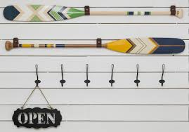 Decorative Oars And Paddles Canada by Ropes And Wood
