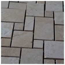 mini versailles 4 size pattern ivory travertine honed mosaic tile