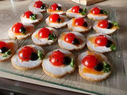 recette canapé apéro recette de apéro coccinelle il vous faut tomate cerise