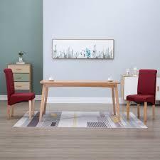 vidaxl esszimmerstühle 2 stk rot stoff