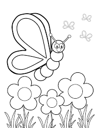 800x1012 Butterfly Viewing Flowers Coloring Page Kids Pages