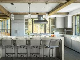 100 Rustic Ceiling Beams Modern Kitchen With Modern Appliances HGTV