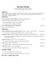 Phlebotomy Resume Sample Good Objective Template Free Examples