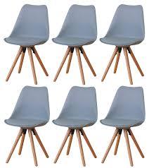 paket 6er set esszimmerstuhl nelle küchenstuhl esszimmer küche stuhl stühle eiche grau dynamic 24 de