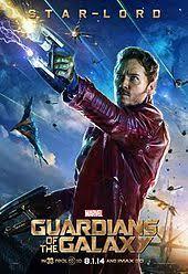 Chris Pratt As Star Lord In A Character Poster For The 2014 Film Guardians Of Galaxy
