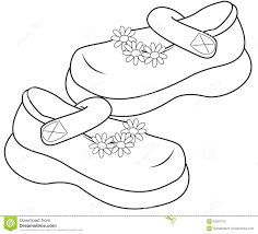 Girls Shoes Clipart Black And White 9