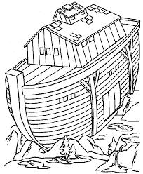 Coloring Page Bible Noahs Ark Kids N Fun