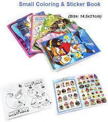 A5 Small Coloring And Sticker Book Many Different Cartoon Design Frozen Sofia Mini