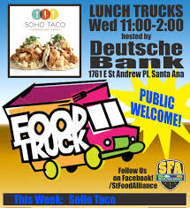 Santa Ana Lunch @ Deutsche Bank – SOHO TACO Sohotaco Twitter Today 11a To 2pm Its Rogers Gardens Of Corona Del Mar Soho Taco Adventures A Middleaged Drama Queen Review Food Truck Cart Tour Soho Road Naan Kebab Post Orange County Trucks Best Image Kusaboshicom Menu Tribeca Truck E T R Y R O W Vanfoodiescom Time Say Goodbye Another Classic 2p Please Join Santa Ana Lunch Deutsche Bank In Brooklyn Popcorn Soho New York City The Worlds Fi Flickr