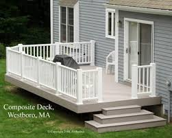 Certainteed Decking Vs Trex by Grey House With Deck Grey Timbertech Deck In Westboro Ma