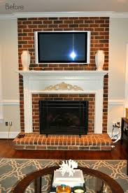 Paint Colors Living Room Red Brick Fireplace by Awesome Red Brick Fireplace Makeover Designs And Colors Modern