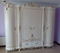 casa padrino luxus barock schlafzimmerschrank weiß creme silber kupfer 320 x 70 x h 250 cm edler massivholz kleiderschrank schlafzimmer