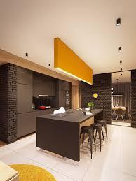 deco cuisine marron dacoration colorae accrocheur dans une galerie et deco cuisine
