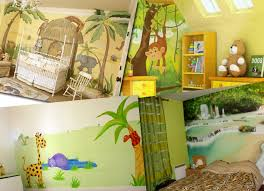 décoration jungle chambre bébé chambre jungle