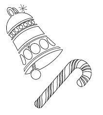 Free Coloring Pages For Christmas Bell And Candy