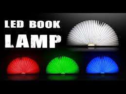 Creative Folded Book Style LED Lamp Color lights version not lumio